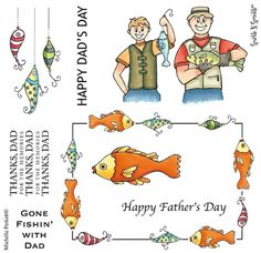 Stamp Set 501 - Fishin' With Dad