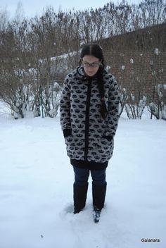 Crown velour hoodie tunic