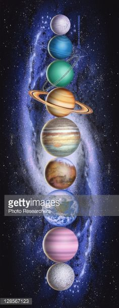 Planets in the Solar System : Stock Illustration
