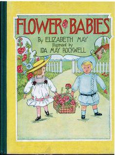 Flower Babies 1905 Vintage Children's Book Elizabeth May Ida May Rockwell   eBay