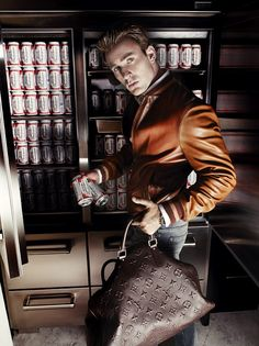 How about this LV Bag? Not bad... Chris Evans by Mario Testino