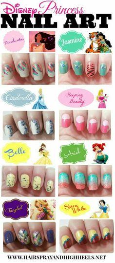 Disney princess nails.