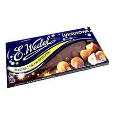 Polish Art Center - Wedel Milk Chocolate Bar with Whole Hazelnuts Luksusowa Goodies, Milk, Polish, Candy, Bar, Chocolate, Food, Box Lunches, Sweet Like Candy