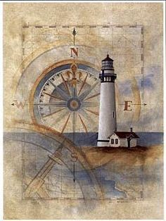 Faro this would be pretty framed for a beach decor room or house Nautical Cards, Nautical Theme, Vintage Nautical, Foto Transfer Potch, Etiquette Vintage, Lighthouse Art, Lighthouse Sketch, Decoupage Paper, Vintage Maps