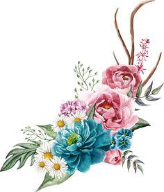 Art Floral, Frame Floral, Flower Frame, Flower Art, Watercolor Cards, Watercolor Flowers, Watercolor Paintings, Flower Backgrounds, Flower Wallpaper