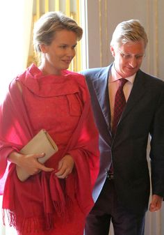 Princess Mathilde and Prince Philippe of Belgium assist the King Baudouin African Development Price at the Royal Palace on 22 May 2013 in Brussel, Belgium