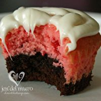 Strawberry Brownie Cupcakes