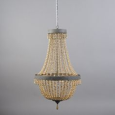 This is a stunning country french style beaded chandelier. beautiful eye catching in any room. Wood, Metal. Light source included. Dimmable Ceiling. Special features. IP20 [IP20] Dust proof(more information). | eBay!