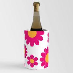 60s 70s Hippie Flower Pink Wine Chiller Wine Chillers, 70s Hippie, Hippie Flowers, Bottle, Pink, Crafts, Manualidades, Flask, Handmade Crafts