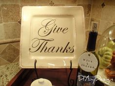 """Give Thanks"" for Thanksgiving / Fall, but you could make ones for other seasons / holidays"