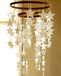 hanging star mobile for kids room decor