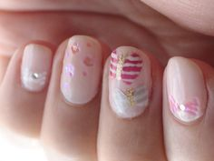 Small Good Things » Nail Art Tutorial: Stripey Butterfly
