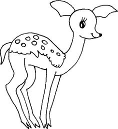 Deer coloring pictures, deep forest coloring picture