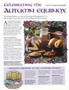 Celebrating the Autumn Equinox....