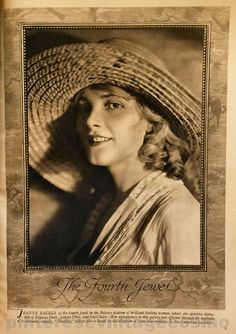 Publicity photo of Jeanne Eagels from Cosmo Jan 1919. She was a former Ziegfeld Follies girl that starred on Broadway, silent films and early talkies. At the height of her career she started to abuse drugs & alcohol and in Oct 1929 during a Dr.'s appointment she went into convulsions and died aged 39.