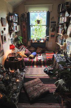 Having shelves on the walls instead of having a bulky bookshelf...I think yes