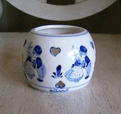 Delft Blue Holland Hpainted Dutch Tealite Candle Holder | eBay