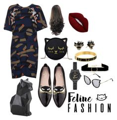 """""""😻😽"""" by ghita-ananda on Polyvore featuring MSGM, Kate Spade, Anissa Kermiche and Lime Crime"""