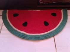 tapete melancia em croche