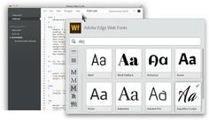 Adobe Edge Web Fonts | Edge Tools & Services | Adobe & HTML