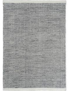Wollteppich Asko Schwarz/Weiß