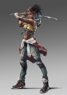 ArtStation - 20170214, shuhang ye Black Girl Cartoon, Black Girl Art, Black Women Art, Fantasy Character Design, Character Design Inspiration, Character Art, Black Anime Characters, Female Characters, Fantasy Women