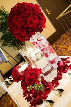 Contemporary Red Rose Wedding