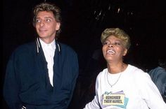 Barry Manilow and Dionne Warwick.