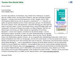 Rezension von @Hanspeter Reiter auf http://www.gabal.de/rezensionen-leser/items/texten-fuers-social-web.html