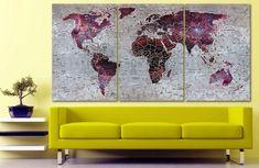 World map canvas World map decor Large world map Travel art Push pin map canvas Extra large wall art Travel poster Push pin canvas World map World Map Cat, World Map Travel, Kids World Map, World Map Photo, Travel Wall Decor, Gaming Wall Art, World Map Decor, World Map Canvas, Thing 1