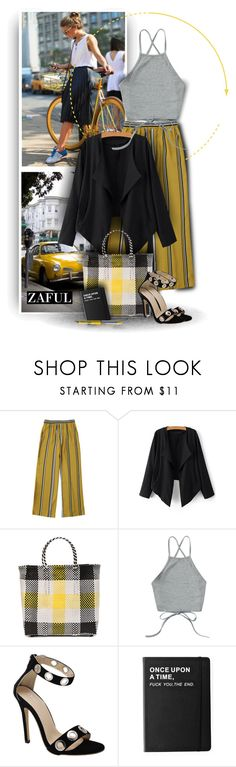 """""""Wide Leg Pants by Zaful 41"""" by christiana40 ❤ liked on Polyvore featuring Retour, TRUSS, Killstar and Drybar"""