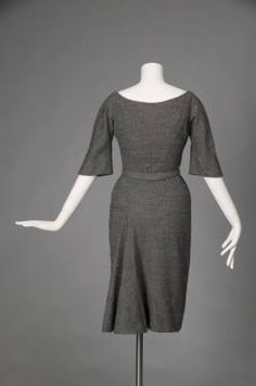 "Day dress, 1951. Wool crepe. Charles James Featured in the movie ""The Tourist"" with Angelina Jolie"