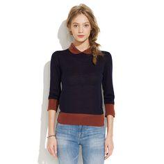 Sessùn™ luis Colorblock Sweater- least irritating of the oversized collar trend!