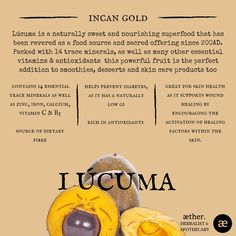 Lucuma benefits, herbal medicine, apothecary, plant medicine Herbs For Health, Health And Wellness, Natural Medicine, Herbal Medicine, Smoothie, Sunburn Remedies, Clean Living, Medicinal Plants, Health Facts
