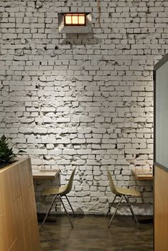 wall on pinterest painted brick walls stacked stone walls and. Black Bedroom Furniture Sets. Home Design Ideas