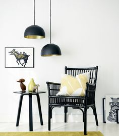 DIY gold pendant lamps from Ikea bowls - Boligpluss.no