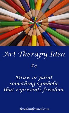 Art therapy can be a helpful tool in eating disorder recovery. If you're looking for a little spark to help you come up with an idea, you might to check out the Dream of Freedom article at Freedom from Eating Disorders here. http://freedomfromed.com/eating-disorder-articles/inspiration-for-eating-disorder-recovery/dream-of-freedom/