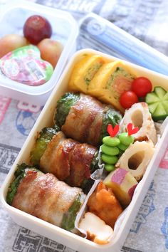 Quickly roll meat - Bento Box - Lunch Box Recipes, Lunch Snacks, Box Lunches, Cute Food, Yummy Food, Bento Kids, Asian Recipes, Healthy Recipes, Food Porn