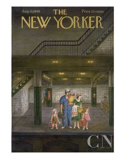 AUGUST  The New Yorker Cover - August 13, 1949 Poster Print by Edna Eicke at the Condé Nast Collection
