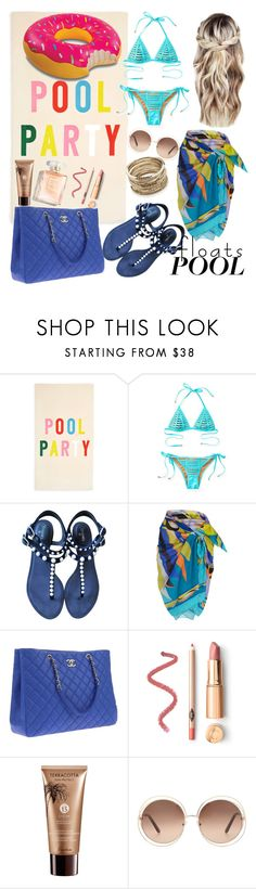 """Untitled #354"" by giusyluglio ❤ liked on Polyvore featuring interior, interiors, interior design, home, home decor, interior decorating, ban.do, Beach Bunny, Chanel and Emilio Pucci"