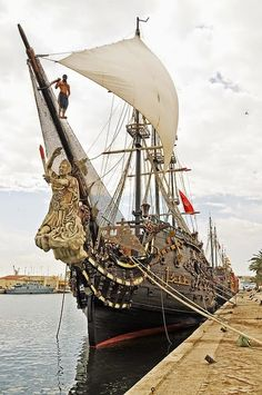 Pirate ship in Sousse Harbour, Tunisia. Photo by Dennis Jarvis