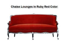 #ChaiseLounges in Ruby Red Color