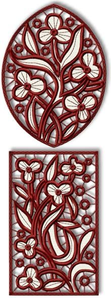 floral embroidery Set of 2 Machine Embroidery Designs Advanced Embroidery, Embroidery Tools, Cutwork Embroidery, Machine Embroidery Patterns, White Embroidery, Machine Quilting, Lacey Pattern, Free Stencils, Jewellery Sketches