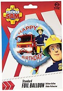 """Folienballon """"Feuerwehrmann Sam"""" als Deko und Geschenk für Kindergeburtstag oder Motto-Party"""