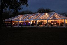 clear top tent lighting ideas by Goodwin Events