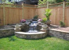 60 DIY Backyard Privacy Fence Design Ideas on A Budget - Insidexterior Privacy Fence Landscaping, Privacy Fence Designs, Backyard Privacy, Backyard Garden Design, Ponds Backyard, Small Backyard Landscaping, Backyard Projects, Backyard Patio, Nice Backyard