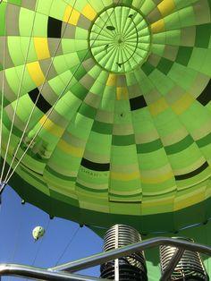 Vol en montgolfière avec les 2 ballons verts d'Atmosph'Air
