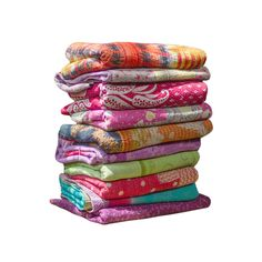 For centuries, rural women in West Bengal have stitched together scraps of cloth to create stunning quilts to keep their families warm. It is believed that old cloth can protect the user, so each embro...  Find the Reversible Kantha Throw, as seen in the Bohemian Sanctuary Collection at http://dotandbo.com/collections/bohemian-sanctuary?utm_source=pinterest&utm_medium=organic&db_sku=VGB0012