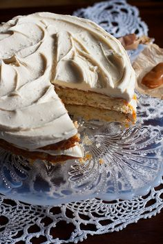 salted caramel vanilla bean layer cake
