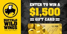 Win gift cards to your favorite stores, online retailers and shops. You have to be in it to win it! Buffalo Wild Wings, Buy Gift Cards, Thing 1, Potpourri, Confirmation, Giveaways, October, Bowl Fillers, Buffalo Wings